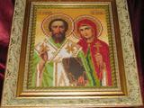 Продам иконe св. Киприана и Устинии, бу